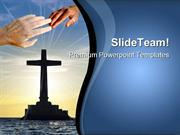 Tropical_Sunset_With_Cross_Religion_PowerPoint_Templates_And_PowerPoin