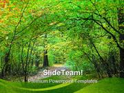 Way_Through_Forest_Nature_PowerPoint_Templates_And_PowerPoint_Backgrou