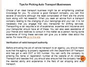 Tips for Picking Auto Transport Businesses