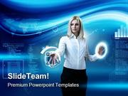 Woman_Navigating_Technology_PowerPoint_Themes_And_PowerPoint_Slides_pp