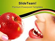 Woman_With_Apple_Food_Health_PowerPoint_Templates_And_PowerPoint_Backg