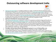 Outsourcing software development India
