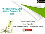 Worldwide DSL Chip Market Forecast To 2018