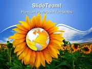 World_In_A_Sunflower_Beauty_PowerPoint_Themes_And_PowerPoint_Slides_pp