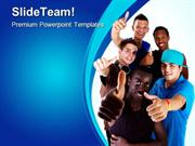 Young_Group_Of_Teens_Global_PowerPoint_Templates_And_PowerPoint_Backgr