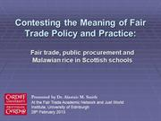 Contesting the Meaning of Fair Trade in Scottish Public Procurement