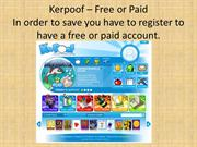 Kerpoof – Free or Paid