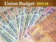 India's Union Finance Budget 2013-14