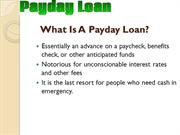 What is a Pay Day Loan