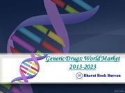 Generic Drug  World Market 2013-2023