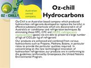 Benefits of Oz-chill Hydrocarbons Refrigerants