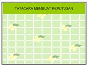 TATACARA MEMBUAT KEPUTUSAN