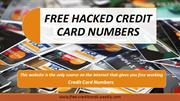 FREE HACKED CREDIT CARD NUMBERS