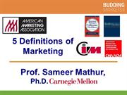 5 Definitions of Marketing by Professor S. Mathur (smathur.com)
