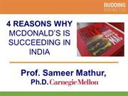 4 Reasons why McDonald's is Succeeding in India