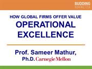 Operational Excellence by Professor S. Mathur (smathur.com)