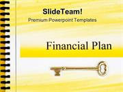 Financial Plan And Golden Key Security PowerPoint Templates And PowerP