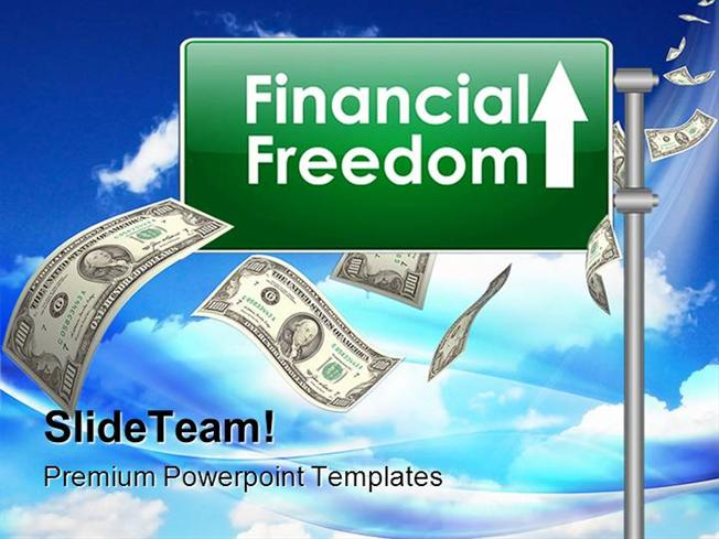 financial freedom money powerpoint templates and powerpoint backgr