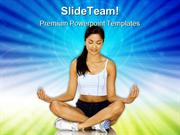 Fitness With Meditation Health PowerPoint Templates And PowerPoint Bac