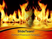 Fire Flood Metaphor PowerPoint Templates And PowerPoint Backgrounds pg