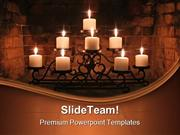 Fireplace Candles Beauty PowerPoint Templates And PowerPoint Backgroun