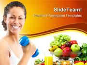 Fittness Concept Health PowerPoint Templates And PowerPoint Background
