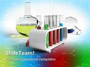 Flasks And Test Tubes Science PowerPoint Templates And PowerPoint Back