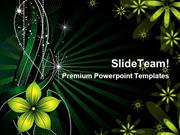 Flowers Abstract Background Design PowerPoint Backgrounds ppt themes