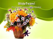 Flowers Bouquet Beauty PowerPoint Templates And PowerPoint Backgrounds