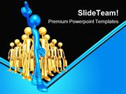 Follows One Leadership PowerPoint Templates And PowerPoint Backgrounds