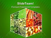 Food Cube Health PowerPoint Templates And PowerPoint Backgrounds ppt l