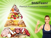 Food Pyramid Health PowerPoint Templates And PowerPoint Backgrounds pg