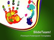 Foot And Palm Art PowerPoint Templates And PowerPoint Backgrounds ppt