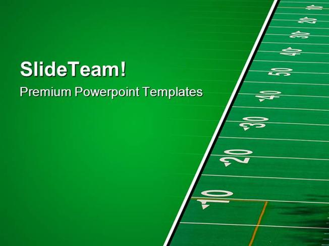 Football Field Sports Powerpoint Templates And Powerpoint Backgrou