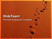 Footsteps In Sahara Desert Holidays PowerPoint Templates And PowerPoin