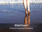 Footsteps People PowerPoint Templates And PowerPoint Backgrounds ppt l
