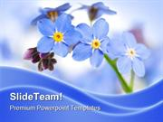 Forget Me Not Nature PowerPoint Templates And PowerPoint Backgrounds p