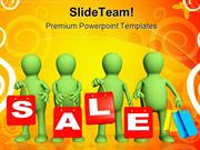 Four Puppets Sales PowerPoint Templates And PowerPoint Backgrounds ppt