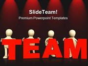 Four Persons Team Business PowerPoint Templates And PowerPoint Backgro
