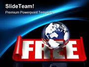 Free Globalization Globe PowerPoint Templates And PowerPoint Backgroun