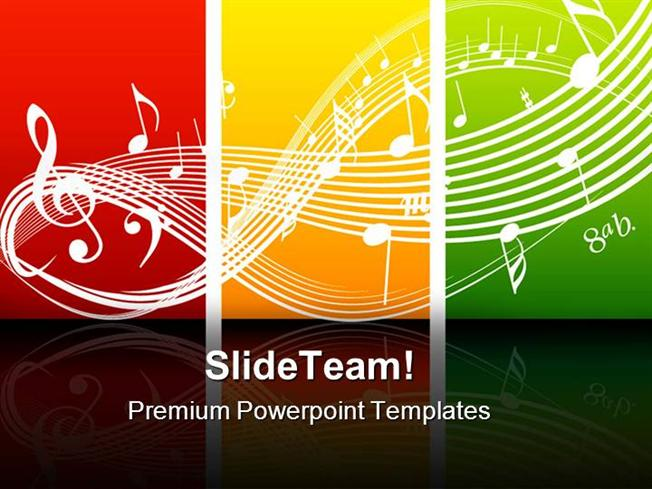 Fresh Music Theme Symbol Powerpoint Themes And Powerpoint Slides P