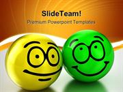 Friendship Smiley Balls Metaphor PowerPoint Templates And PowerPoint B