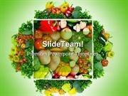Fruits And Vegetables Health PowerPoint Templates And PowerPoint Backg