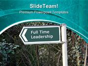 Full Time Leadership PowerPoint Templates And PowerPoint Backgrounds p