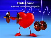 Fun Heart Health PowerPoint Templates And PowerPoint Backgrounds ppt l