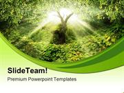Garden Eden Nature PowerPoint Templates And PowerPoint Backgrounds pgr