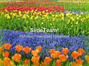 Garden Of Flowers Nature PowerPoint Templates And PowerPoint Backgroun