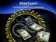 Gear And Money Business PowerPoint Templates And PowerPoint Background
