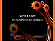 Gears Abstract Background PowerPoint Templates And PowerPoint Backgrou
