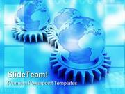 Gears And Globe Concept Industrial PowerPoint Templates And PowerPoint